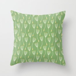 Sprout Green Throw Pillow