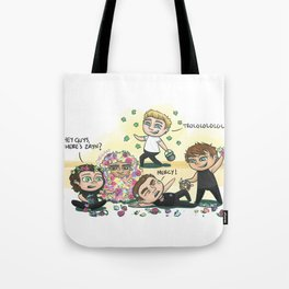 Flower Fight Tote Bag