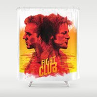 fight Shower Curtains featuring fight  by İsmail Kocabas