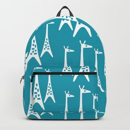 Mid Century Modern Giraffe Pattern 221 Turquoise Backpack