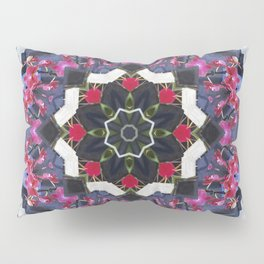 Orchids And Stone Wall Kaleidoscope 1763 Pillow Sham