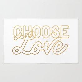 CHOOSE LOVE (gold) Rug