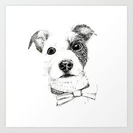 Jack Russell - Bo with a Bow Tie Art Print