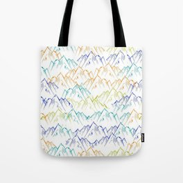 Mountain Tapestry Tote Bag