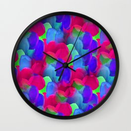 Sea of Flowers Wall Clock