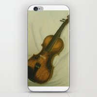 violin iPhone & iPod Skins featuring Violin by Camille Anastasia