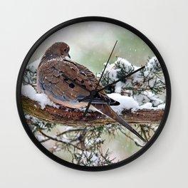Peaceful Winter Dove Wall Clock