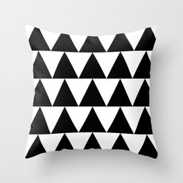 Black and White Triangle By PencilMeIn Throw Pillow
