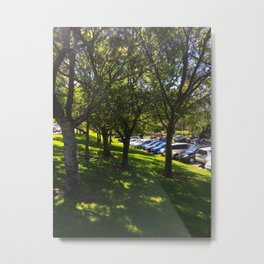 Carpark Trees Metal Print