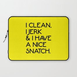 Nice Snatch Funny Gym Quote Laptop Sleeve