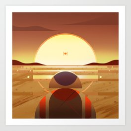 Star: Sunset Art Print