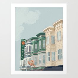 A Day in San Francisco Art Print