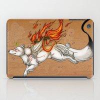 okami iPad Cases featuring Okami - Cherry Blossom Storm by BlueHunter