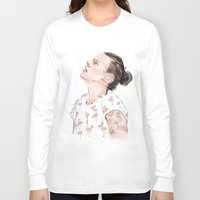 coconutwishes Long Sleeve T-shirts featuring Harry Flamingo by Coconut Wishes
