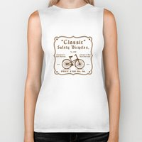 bicycles Biker Tanks featuring Classic Safety Bicycles by Hammadiq