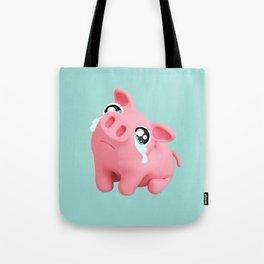 Rosa the Pig Sad Tote Bag