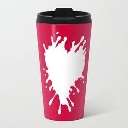 Splatter Heart Travel Mug