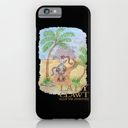 Lady Clawt, ready for adventure iPhone Case