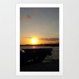 Sunset in Cozumel Art Print