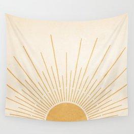 Sun #5 Yellow Wall Tapestry