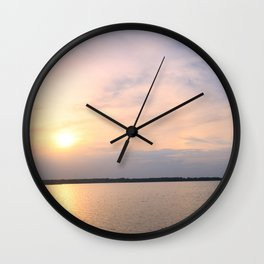 Sunrise At Lake Murray 2 Wall Clock