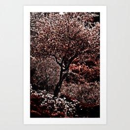RED TREE - Triplex Art Print