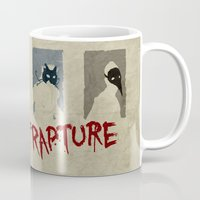 bioshock Mugs featuring Bioshock - Citizens of Rapture by Art of Peach