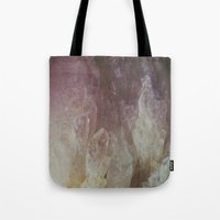 crystal Tote Bags featuring Crystal by Neon Wildlife