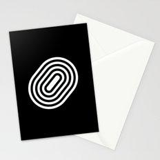 Stripey pill shape Stationery Cards