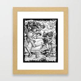 Death Killing a Soldier, Danse Macabre Framed Art Print