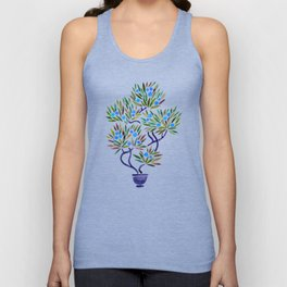 Bonsai Fruit Tree – Blue Palette Unisex Tank Top