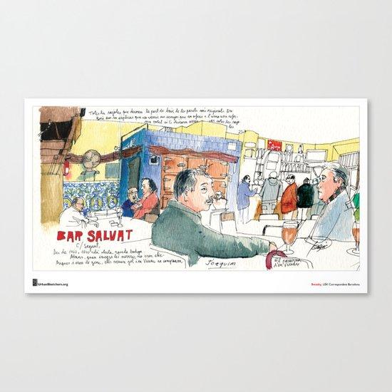 "Swasky, ""Plaça Joan Peiro"" Canvas Print"