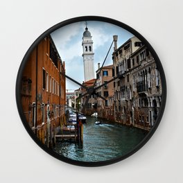 Leaning Venice Wall Clock
