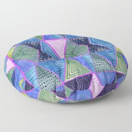 Patterned Mosaic Triangles Floor Pillow