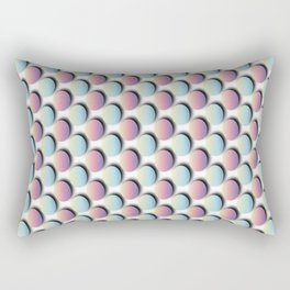 Pastel Easter Egg Pattern Rectangular Pillow