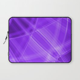 Metallic strokes with violet diagonal lines of intersecting bright stripes of light.  Laptop Sleeve