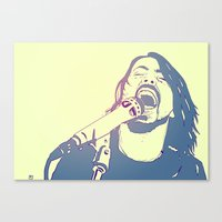 dave grohl Canvas Prints featuring Dave Grohl by Giuseppe Cristiano