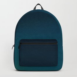Hand painted navy blue green watercolor ombre brushstrokes Backpack