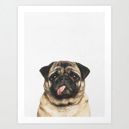 Cheeky Pug Art Print