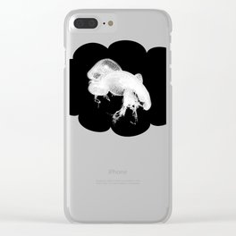 Jelly Love Black Clear iPhone Case
