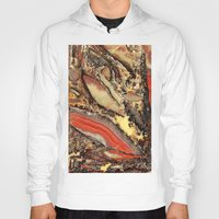 agate Hoodies featuring Colorful Gemstone I by Kristiana Art Prints
