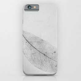 leaf skeleton on texture iPhone Case