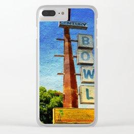 Century Bowl - Merced, CA Clear iPhone Case