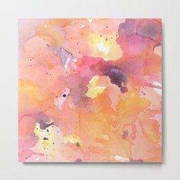 Abstract Watercolor Colorful Painting Metal Print