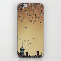 fitzgerald iPhone & iPod Skins featuring Innumerable wandering balloons by Emma Fitzgerald