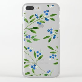 Blueberry Fields Clear iPhone Case