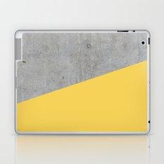 Concrete and primrose yellow color Laptop & iPad Skin