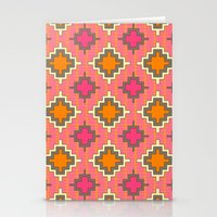 kilim Stationery Cards featuring tangerine kilim by Sharon Turner