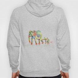 Colorful Elephant Family Hoody
