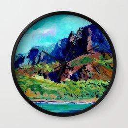Na Pali Coast 3 Wall Clock
